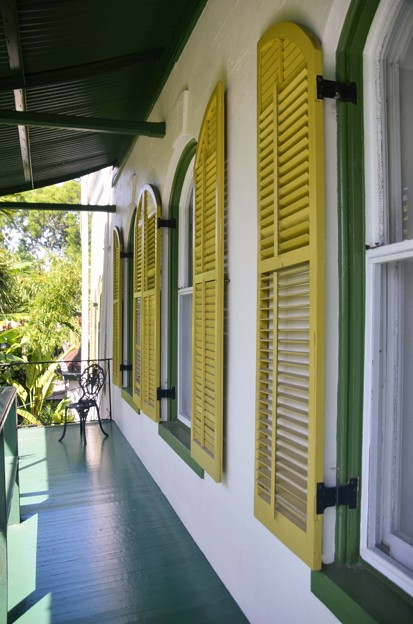 Green Veranda and Yellow Shutters 6-8-19