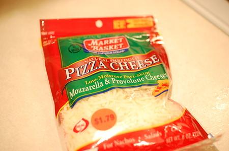 今回使ったMarketBasketのピザチーズ