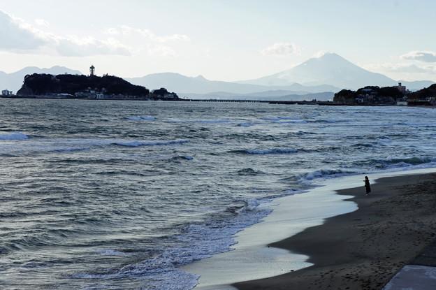 七里ヶ浜の夕日4