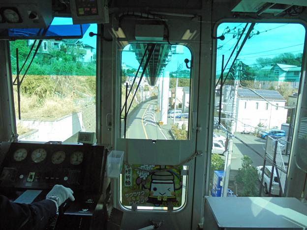 モノレール運転席の車窓1