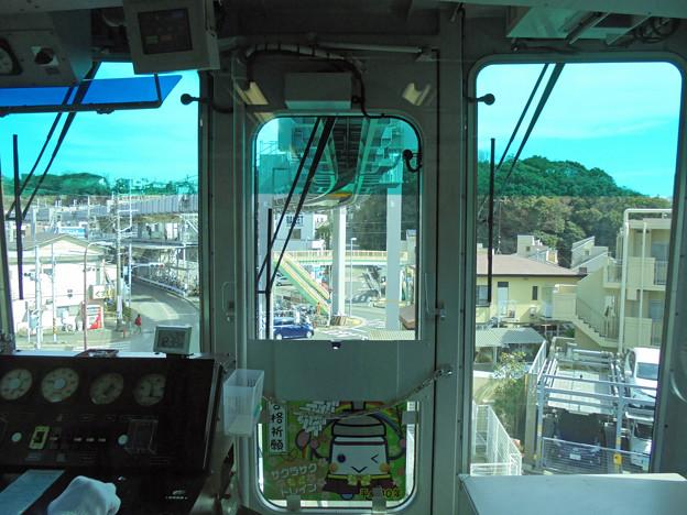 モノレール運転席の車窓3