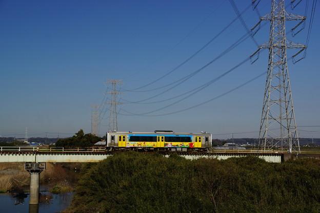 鉄橋+鉄塔+列車