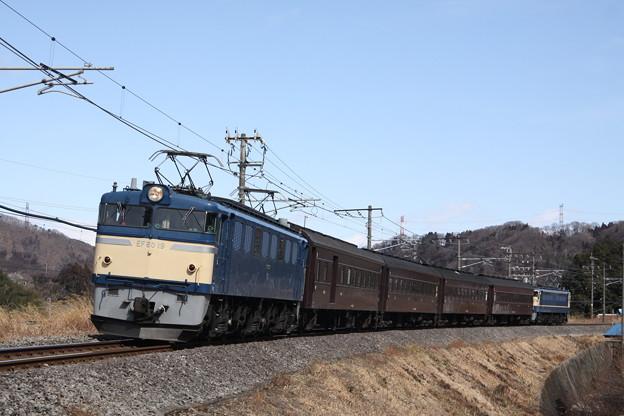 EF60-19+旧型客車+EF65-501 上越線試運転
