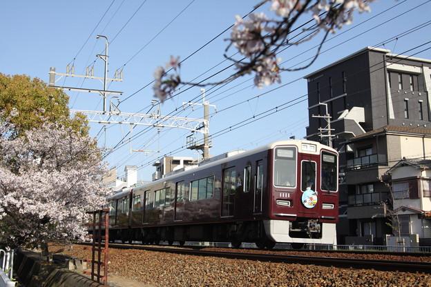 阪急1000系(スヌーピー)×桜2018年