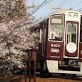 阪急9000系×桜2018年