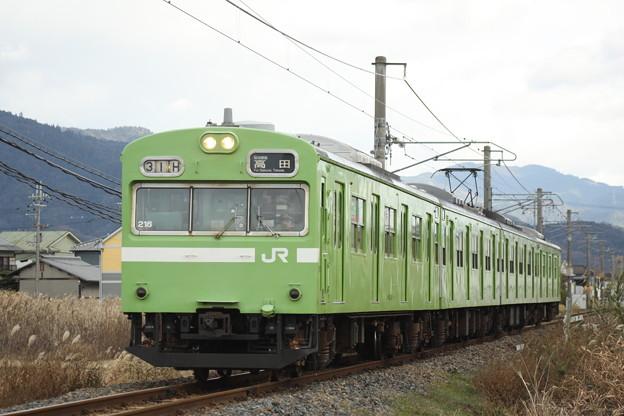 桜井線103系(初詣臨)