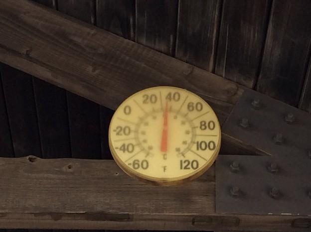 ビジターセンターの温度計