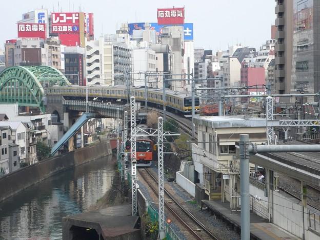 聖橋から望む御茶ノ水駅~秋葉原電気街