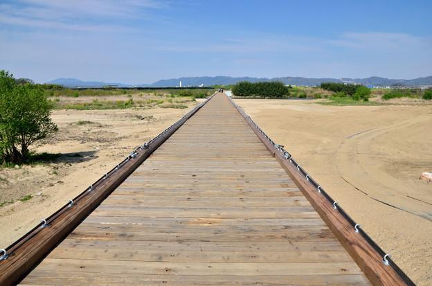 Photos: 2016_0416_144456_流れ橋復旧