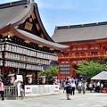 写真: 2018_0716_132914 八坂神社南楼門と拝殿