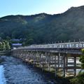 Photos: 2018_1021_152311 復旧用足場の残る渡月橋