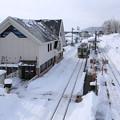 写真: 立ち止まり雪景色