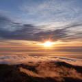 栗駒山朝日3 雲海