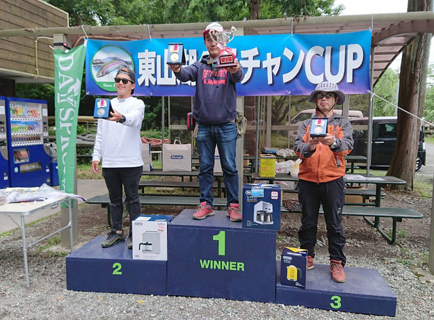 2018 第一回 東山湖グラチャンカップ 総合表彰台