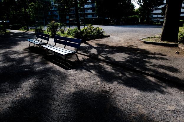 団地のベンチ