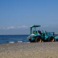 写真: 浜のホイールローダ