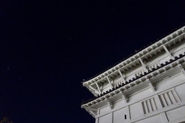 福山城とオリオン座