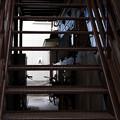 階段の隙間から