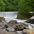 Photos: 堰と川