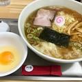 Photos: 田無大勝軒、ワンタン麺+生玉子