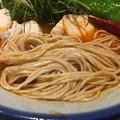 AFURI 辛紅、柚子辛紅らーめん4丁目の全粒粉入り極細麺