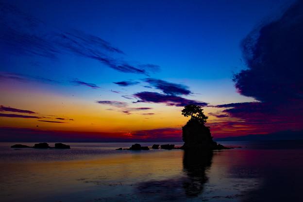 夜明け前の雨晴海岸 IMG_8225(2)