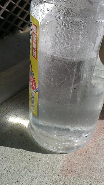 Photos: ペットボトルの中身凍ってた