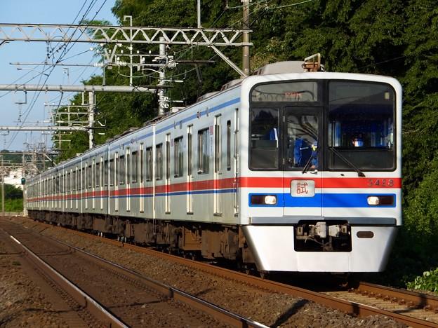 京成3400形 3428編成 試運転列車