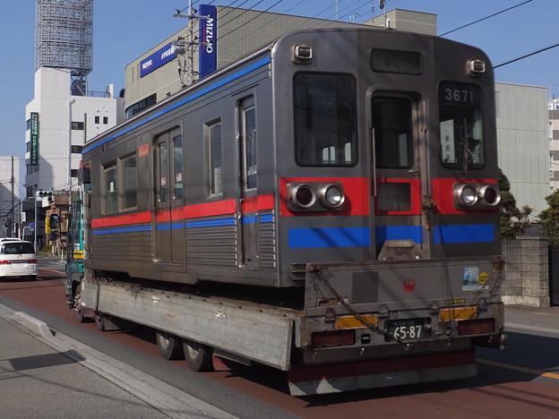 京成3600形 クハ3671 廃車陸送
