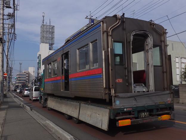 京成3600形 モハ3672 廃車陸送