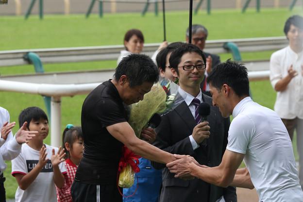 林 満明 騎手 引退セレモニー_3(18/06/23・第20回 東京ジャンプステークス)