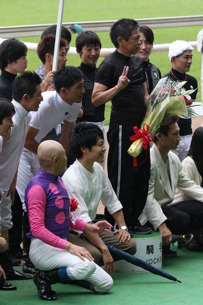 林 満明 騎手 引退セレモニー_6(18/06/23・第20回 東京ジャンプステークス)
