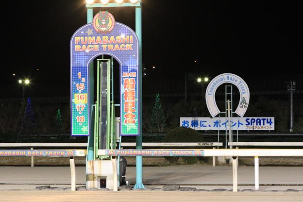 船橋競馬場 ゴール板(19/01/16)