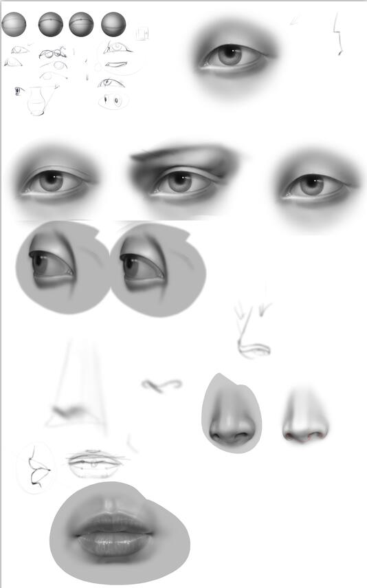 用Photoshop绘制五官视频教程