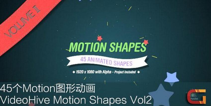 45个Motion图形动画 VideoHive Motion Shapes Vol.2