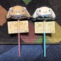 Photos: サンリオ シナモロール キャラクター形棒付きチョコ