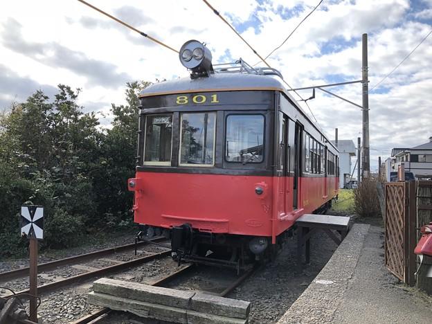 銚子電鉄 デハ801 外川駅