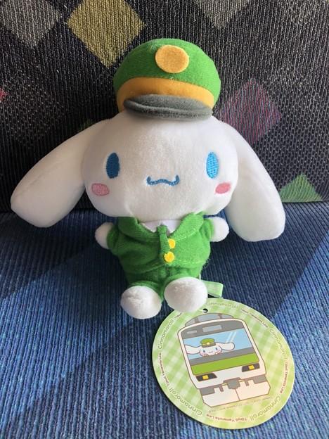 シナモロール in 東京キャラクターストリート 山手線シリーズ 駅長さんボールチェーンマスコット