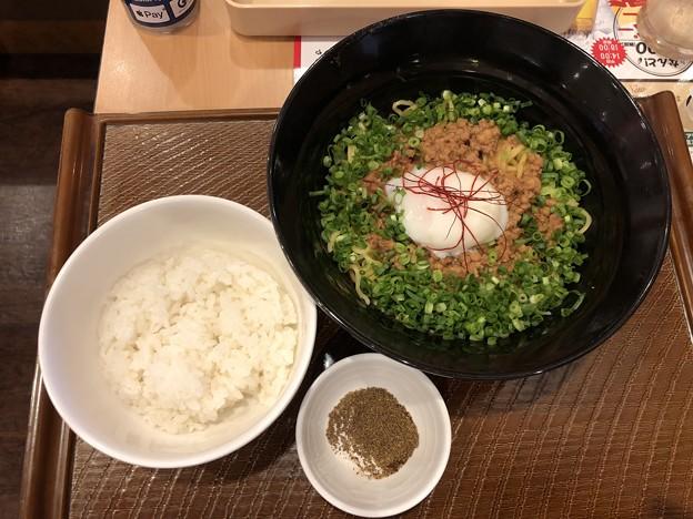 広島 旨辛汁なし担担麺&ご飯セット