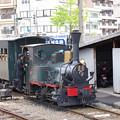 Photos: s6780_伊予鉄14号機関車客車に連結