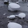 Photos: s8754_肘折温泉金山橋付近の石上の雪