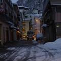Photos: s8846_肘折温泉街を行くおおくらくん1号