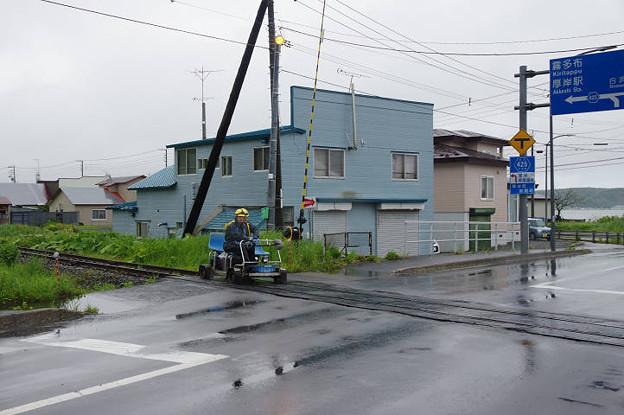 s4820_軌道自転車で線路点検中_厚岸~門静間
