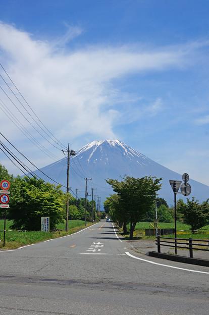 富士に向かって