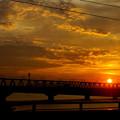 Photos: 鉄橋を渡る