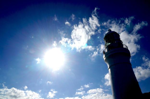逆光の灯台