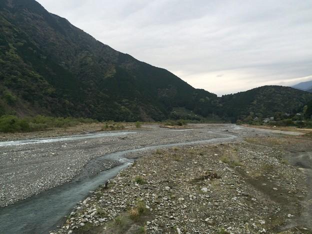 安倍川中流の河原