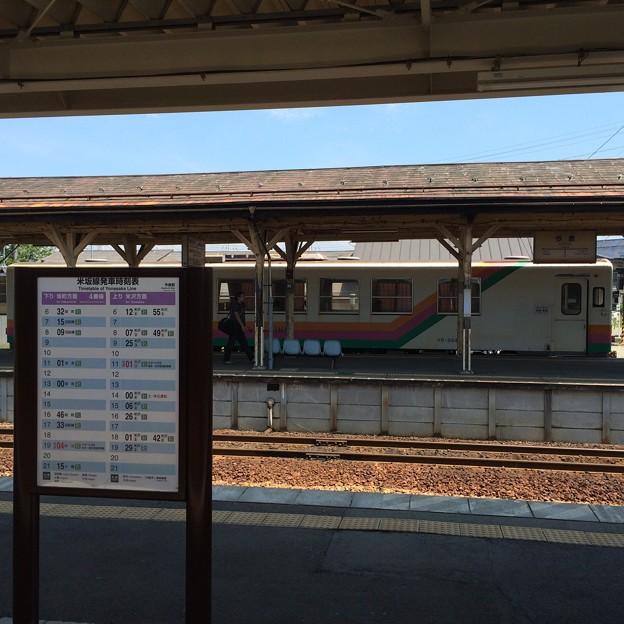 今泉駅のホーム