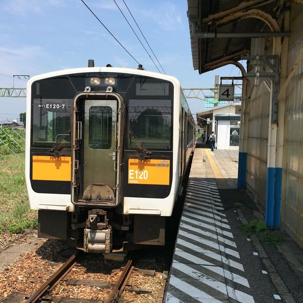 坂町駅にて