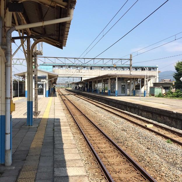 坂町駅構内(新潟方面)